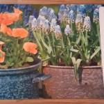 коврик придверный резиновый Цветы