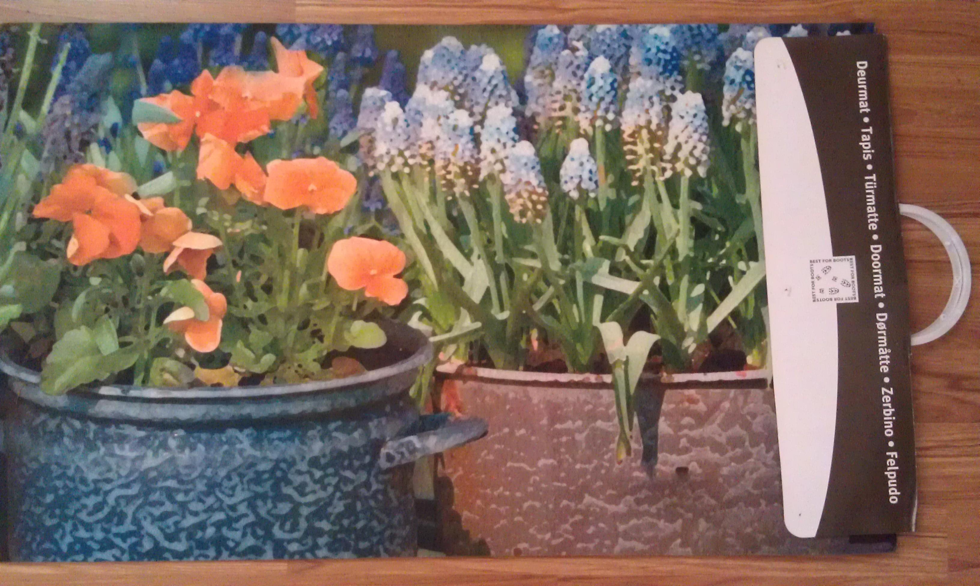 Коврик придверный Цветы (RB90). Цена 615 руб.