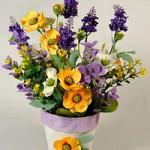 Цветы в кашпо Лаванда-Космея