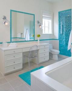 ванная в голубом