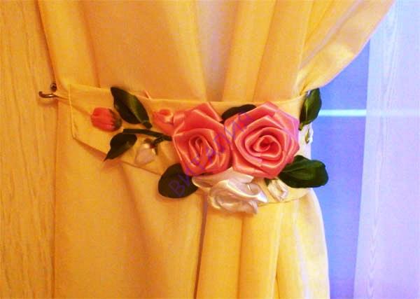 Цветы для штор своим руками