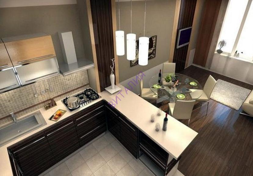 объединяем кухню зал